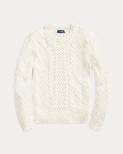 폴로 랄프로렌 Polo Ralph Lauren The Iconic Fishermans Sweater,Andover Cream