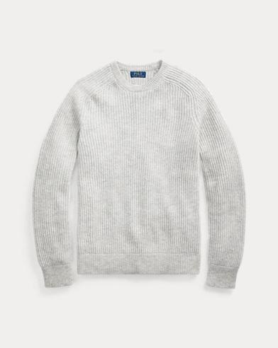 폴로 랄프로렌 Polo Ralph Lauren Wool Raglan Crewneck Sweater,Light Grey Heather