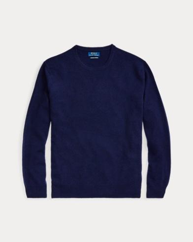 폴로 랄프로렌 맨 워시어블 캐시미어 스웨터 - 브라이트 네이비 Polo Ralph Lauren Washable Cashmere Sweater, 506840