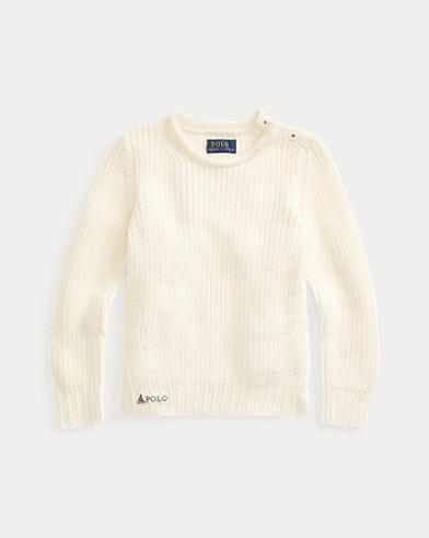 폴로 랄프로렌 여아용 스웨터 Polo Ralph Lauren Cotton Rollneck Sweater,Clubhouse Cream