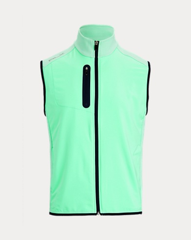 폴로 랄프로렌 스트레치 자카드 조끼 Polo Ralph Lauren Stretch-Paneled Jacquard Vest,Spring Leaf
