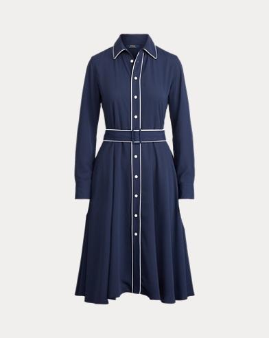 폴로 랄프로렌 버클 셔츠원피스 - 네이비 Polo Ralph Lauren Buckled Shirtdress