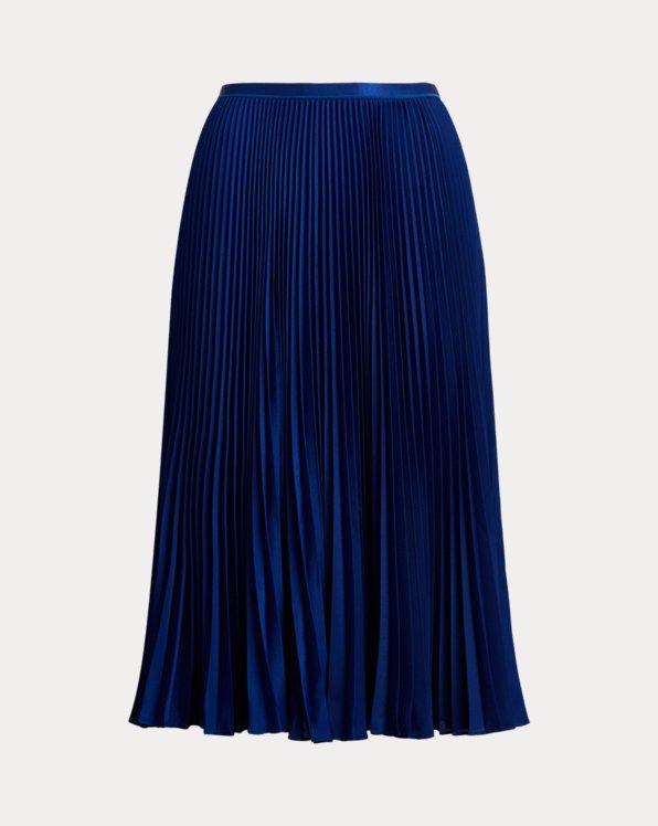 폴로 랄프로렌 Polo Ralph Lauren Pleated Midi Skirt,Holiday Navy