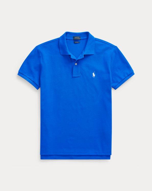 폴로 랄프로렌 Polo Ralph Lauren Classic Fit Mesh Polo Shirt,Heritage Blue