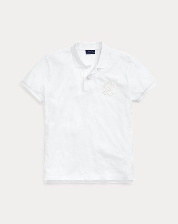폴로 랄프로렌 Polo Ralph Lauren Classic Fit Beaded Polo Shirt,Deckwash White