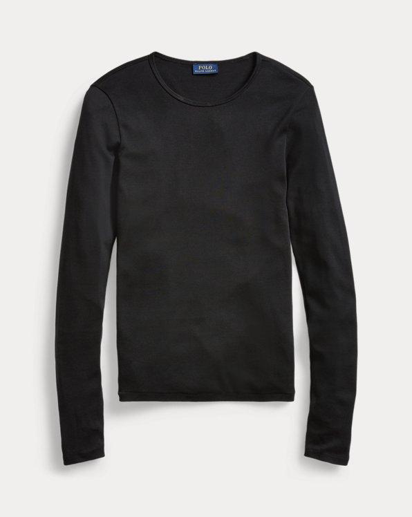 폴로 랄프로렌 우먼 셔츠 Polo Ralph Lauren Cotton Long-Sleeve Shirt,Polo Black
