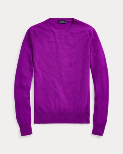폴로 랄프로렌 우먼 워시어블 캐시미어 스웨터 - 네이비 Polo Ralph Lauren Washable Cashmere Sweater