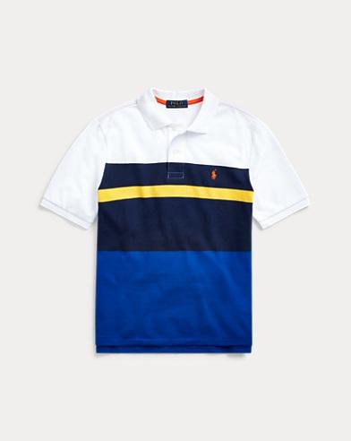 폴로 랄프로렌 Polo Ralph Lauren Cotton Mesh Polo Shirt,Newport Navy Multi