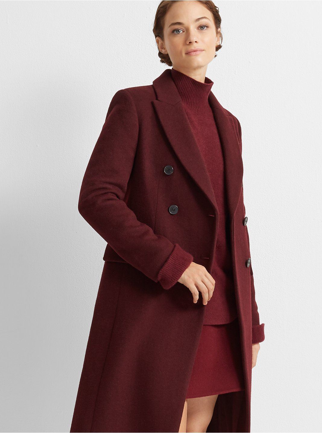 클럽 모나코 Club Monaco Jemma Coat,Burgundy