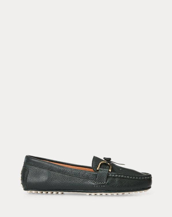 폴로 랄프로렌 Polo Ralph Lauren Briley II Leather Loafer,Racing Green