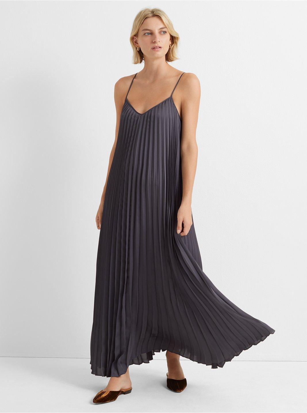 클럽 모나코 스트래피 주름 원피스 - 2 컬러 Club Monaco Strappy Pleated Maxi Dress