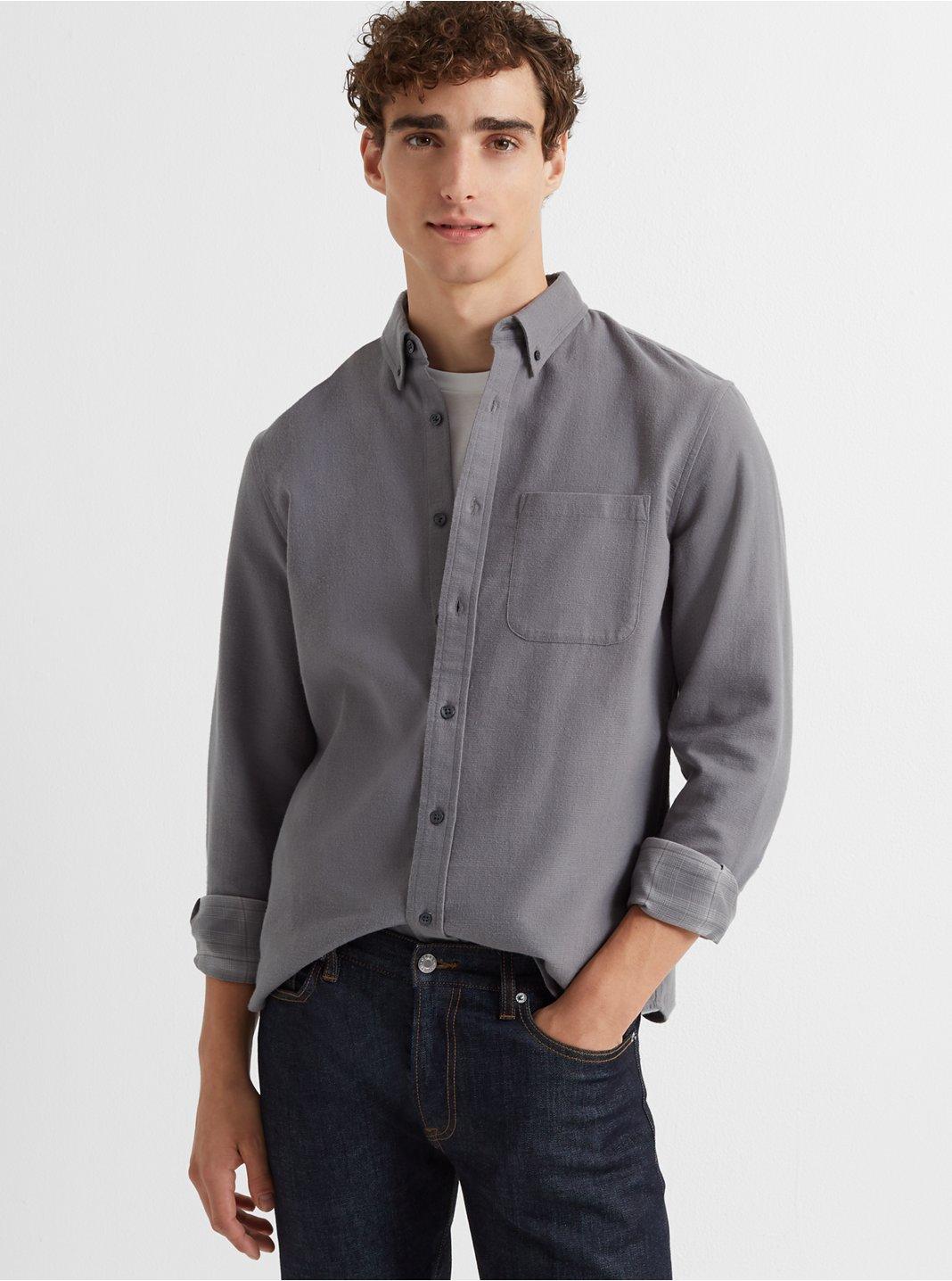 클럽 모나코 슬림 더블 페이스드 그리드 셔츠 - 2 컬러 ('날 녹여주오' 지창욱 착용) Club Monaco Slim Double-Faced Grid Shirt