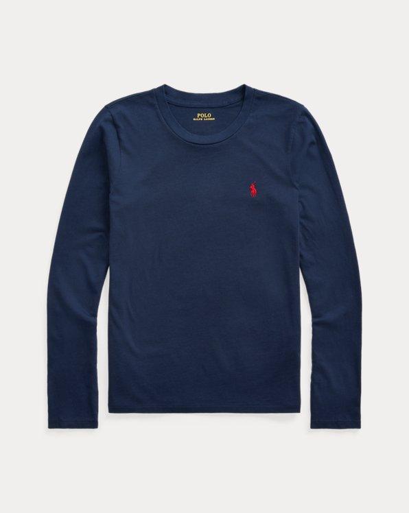 폴로 랄프로렌 우먼 셔츠 Polo Ralph Lauren Jersey Long-Sleeve Shirt,Cruise Navy
