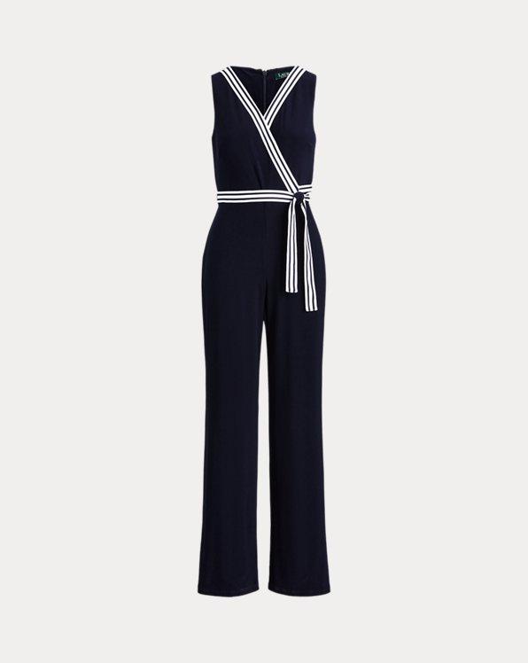 폴로 랄프로렌 Polo Ralph Lauren Surplice Jersey Jumpsuit,Lighthouse Navy