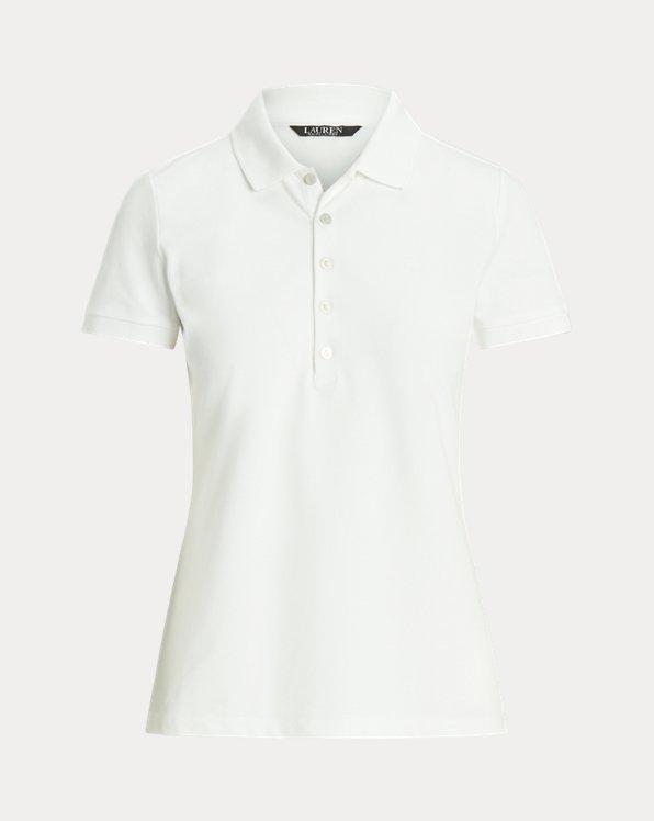 폴로 랄프로렌 Polo Ralph Lauren Pique Polo Shirt,White