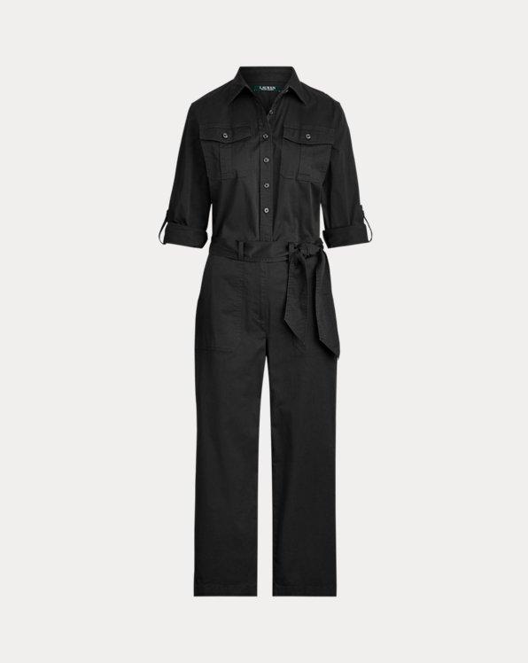 폴로 랄프로렌 Polo Ralph Lauren Cotton Twill Jumpsuit,Polo Black