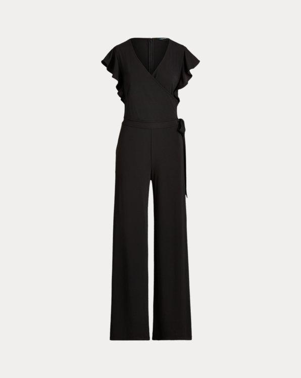 폴로 랄프로렌 Polo Ralph Lauren Wrap-Style Jersey Jumpsuit,Polo Black