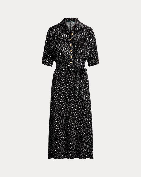 로렌 랄프로렌 벨티드 셔츠원피스 Polo Ralph Lauren Belted Jersey Shirtdress,Polo Black Multi