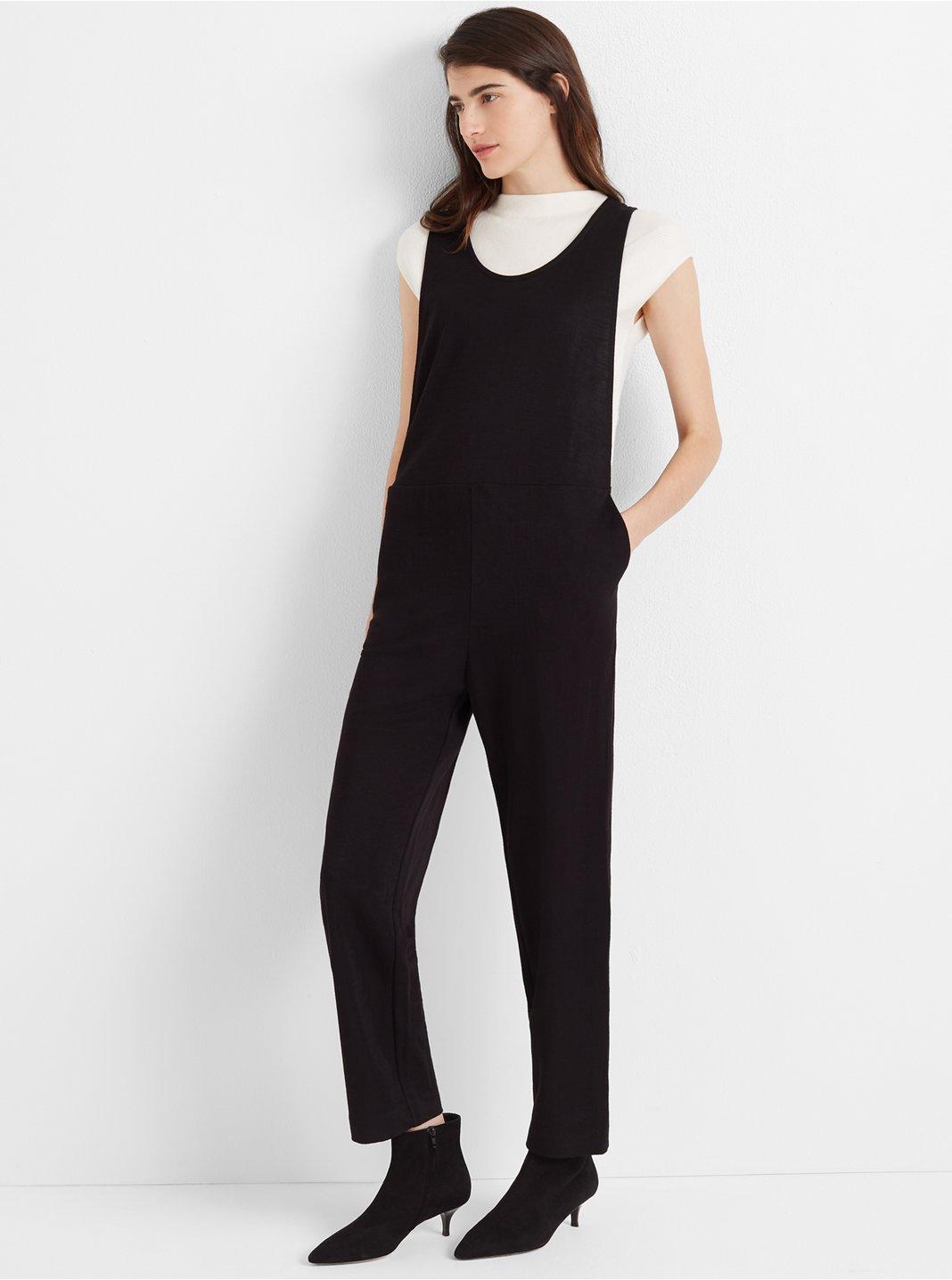 클럽 모나코 니트 점프수트 Club Monaco Layerable Knit Jumpsuit,Black