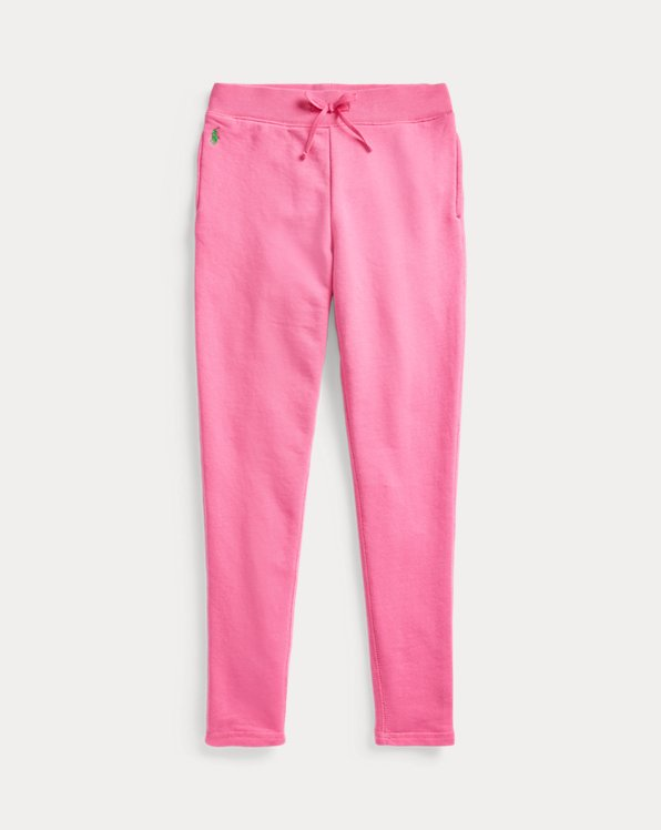 폴로 랄프로렌 걸즈 레깅스 Polo Ralph Lauren Cotton-Blend-Terry Legging,Baja Pink Cycle Green Mul