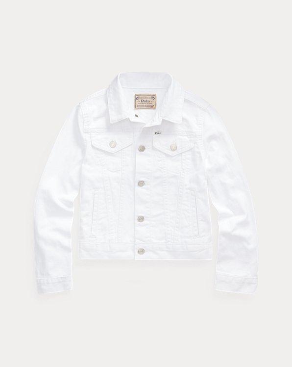 폴로 랄프로렌 걸즈 데님 자켓 Polo Ralph Lauren Cotton Denim Trucker Jacket,Poe Wash