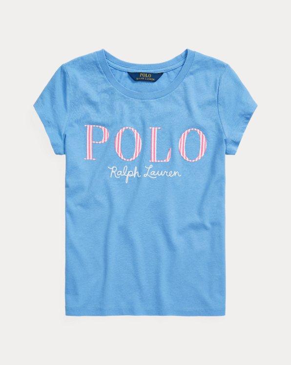 폴로 랄프로렌 걸즈 티셔츠 Polo Ralph Lauren Logo Cotton Jersey Tee,Harbor Island Blue