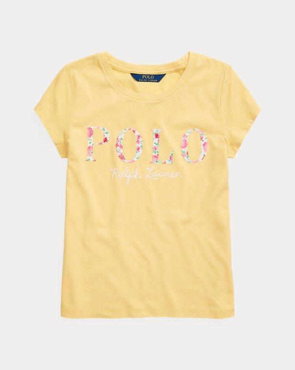 폴로 랄프로렌 걸즈 티셔츠 Polo Ralph Lauren Logo Cotton Jersey Tee,Empire Yellow