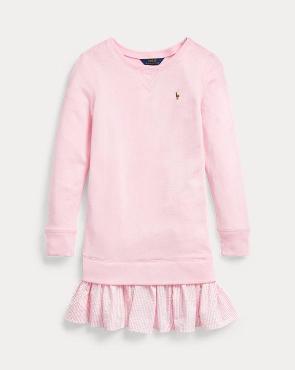 폴로 랄프로렌 걸즈 원피스 Polo Ralph Lauren Cotton-Blend-Terry Dress, Carmel Pink