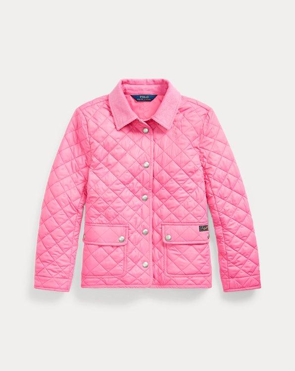 폴로 랄프로렌 걸즈 자켓 Polo Ralph Lauren Water-Resistant Barn Jacket,Baja Pink