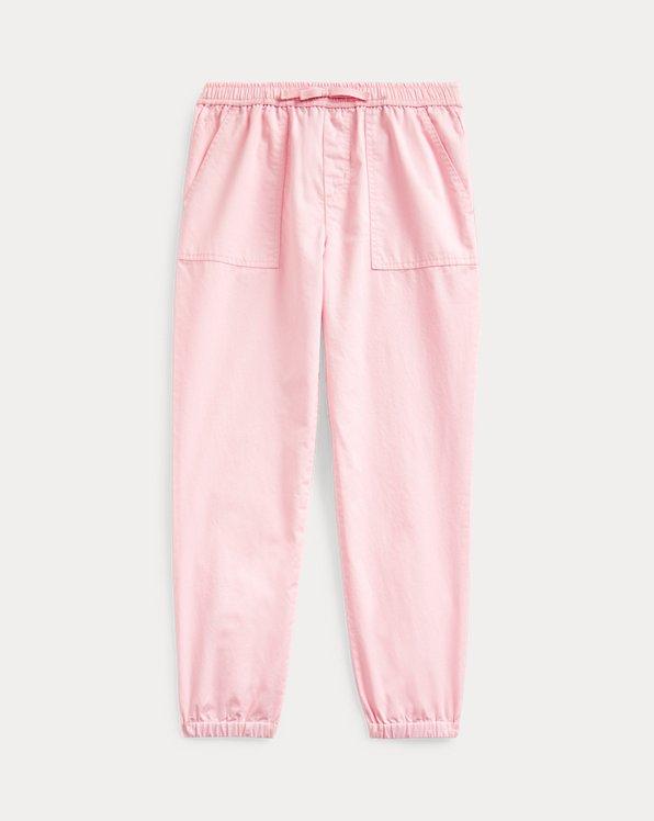 폴로 랄프로렌 걸즈 조거 팬츠 Polo Ralph Lauren Cotton Twill Jogger,Hint Of Pink