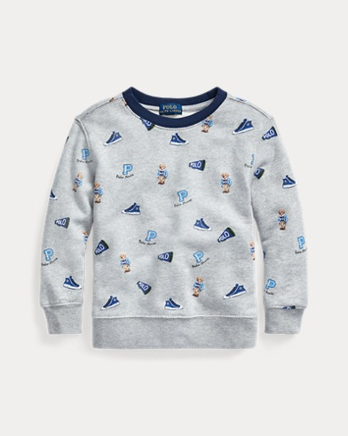 폴로 랄프로렌 남아용 베어 맨투맨 Polo Ralph Lauren Polo Bear Cotton Sweatshirt,Andover Heather