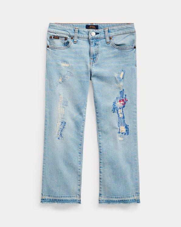 폴로 랄프로렌 걸즈 크롭 청바지 Polo Ralph Lauren Cropped Flare Denim Jean,Maple Wash