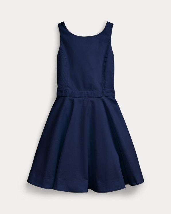 폴로 랄프로렌 걸즈 원피스 Polo Ralph Lauren Crossback Stretch Cotton Dress,French Navy