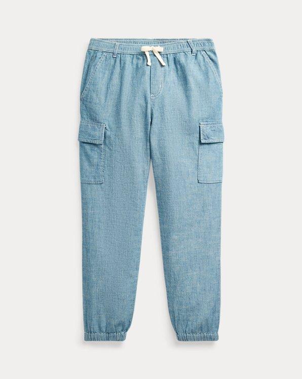 폴로 랄프로렌 걸즈 카고 팬츠 Polo Ralph Lauren Cotton Chambray Cargo Pant,Indigo