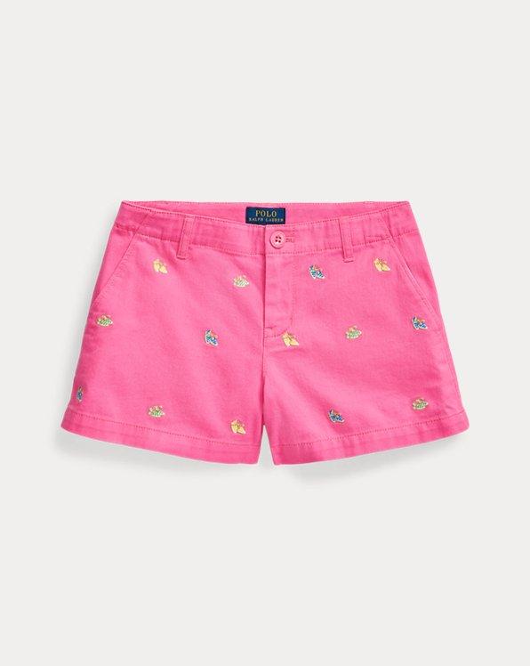 폴로 랄프로렌 걸즈 치노 반바지 Polo Ralph Lauren Espadrille Cotton Chino Short,Baja Pink