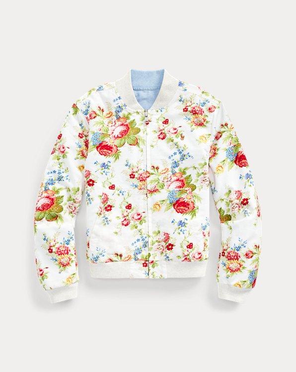 폴로 랄프로렌 걸즈 옥스포드 자켓 Polo Ralph Lauren Reversible Oxford Jacket,Cream Multi