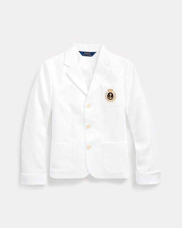폴로 랄프로렌 걸즈 자켓 Polo Ralph Lauren Linen Canvas Blazer,White