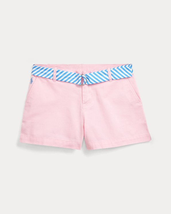 폴로 랄프로렌 걸즈 치노 반바지 Polo Ralph Lauren Belted Cotton Chino Short,Carmel Pink