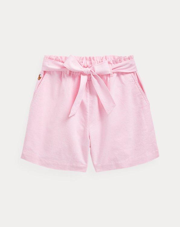 폴로 랄프로렌 걸즈 반바지 Polo Ralph Lauren Belted Cotton Oxford Short,Pink