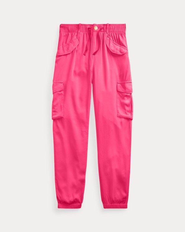 폴로 랄프로렌 걸즈 카고 조거 팬츠 Polo Ralph Lauren Twill Cargo Jogger,Ultra Pink