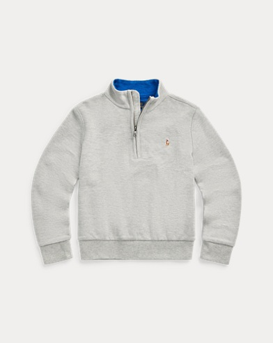 폴로 랄프로렌 남아용 메쉬 하프집업 스웨터 Polo Ralph Lauren Cotton Mesh Half-Zip Pullover,Andover Heather