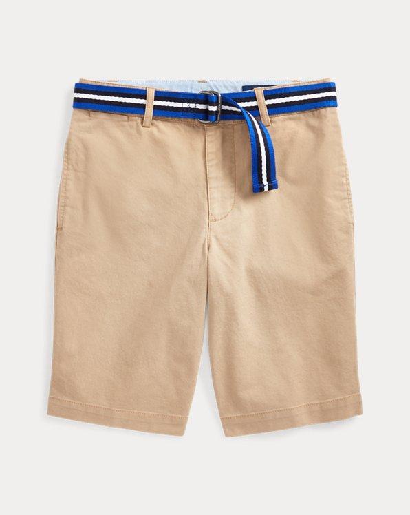폴로 랄프로렌 보이즈 반바지 Polo Ralph Lauren Slim Fit Belted Chino Short,Classic Khaki