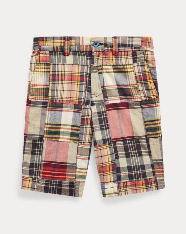 폴로 랄프로렌 보이즈 반바지 Polo Ralph Lauren Slim Fit Cotton Madras Short,Navy Multi