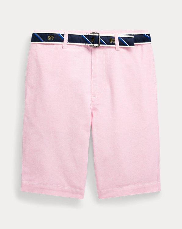 폴로 랄프로렌 보이즈 반바지 Polo Ralph Lauren Slim Fit Belted Oxford Short,Bsr Pink