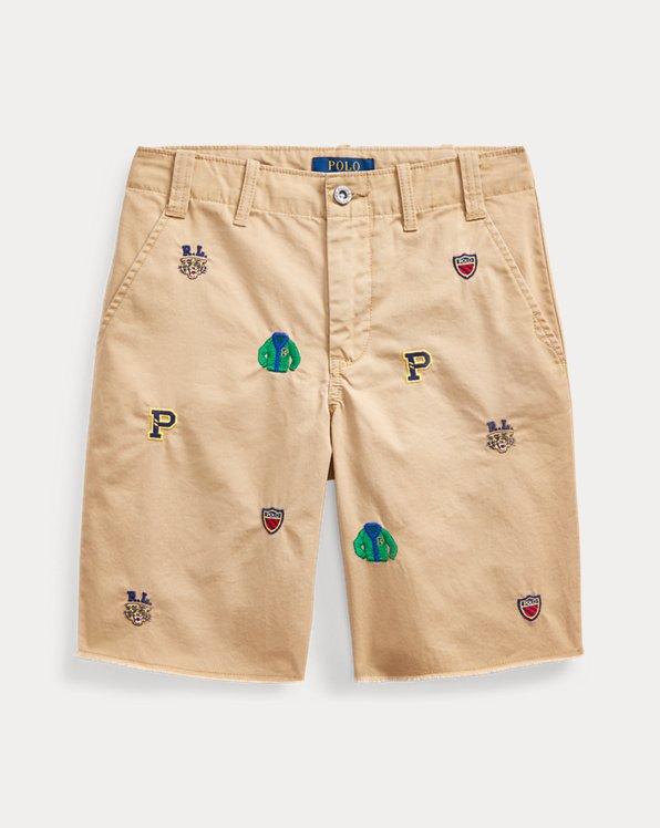 폴로 랄프로렌 보이즈 반바지 Polo Ralph Lauren Straight Fit Embroidered Short,Boating Khaki
