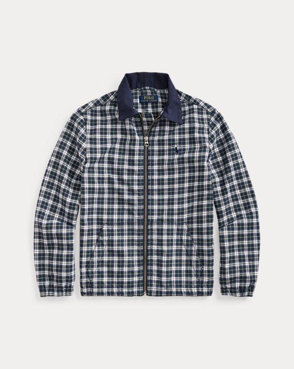 폴로 랄프로렌 보이즈 자켓 Polo Ralph Lauren Plaid Cotton Oxford Jacket,Green/White Multi