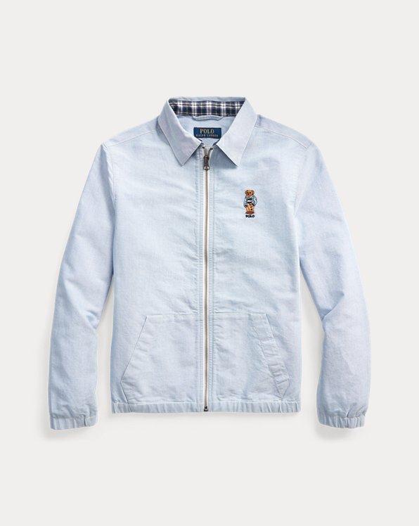 폴로 랄프로렌 보이즈 자켓 Polo Ralph Lauren Preppy Bear Oxford Jacket,Bsr Blue