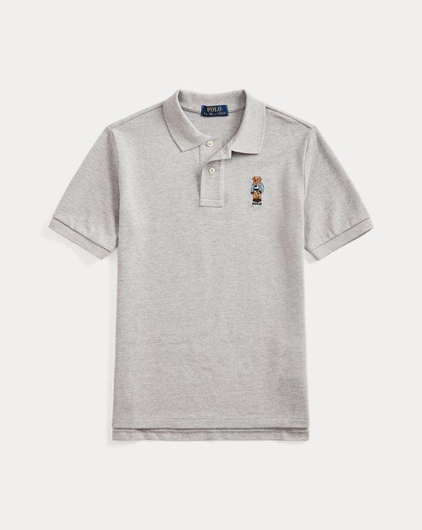 폴로 랄프로렌 보이즈 폴로 셔츠 Polo Ralph Lauren Preppy Bear Cotton Mesh Polo,Andover Heather
