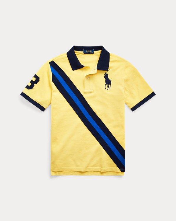 폴로 랄프로렌 보이즈 폴로 셔츠 Polo Ralph Lauren Big Pony Banner Cotton Polo,Oasis Yellow