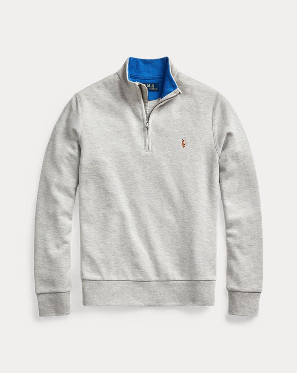 폴로 랄프로렌 보이즈 풀오버 Polo Ralph Lauren Cotton Quarter-Zip Pullover,Andover Heather